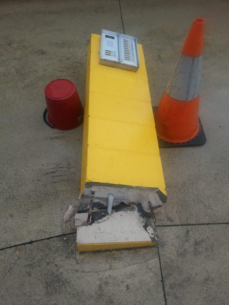 Intercom knocked over in drive way Attend Locksmiths Job Photo's