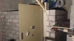 Vault Door installation with combination push button lock