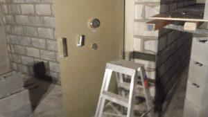 Vault Door installation with key