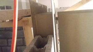 Vault Door installation walls with rebar