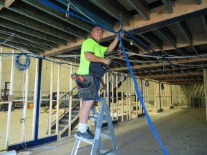 Installing 183 cat6 data points Attend Locksmiths Job Photo's